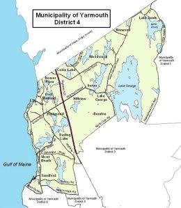 Map - District 4, Municipality of Yarmouth